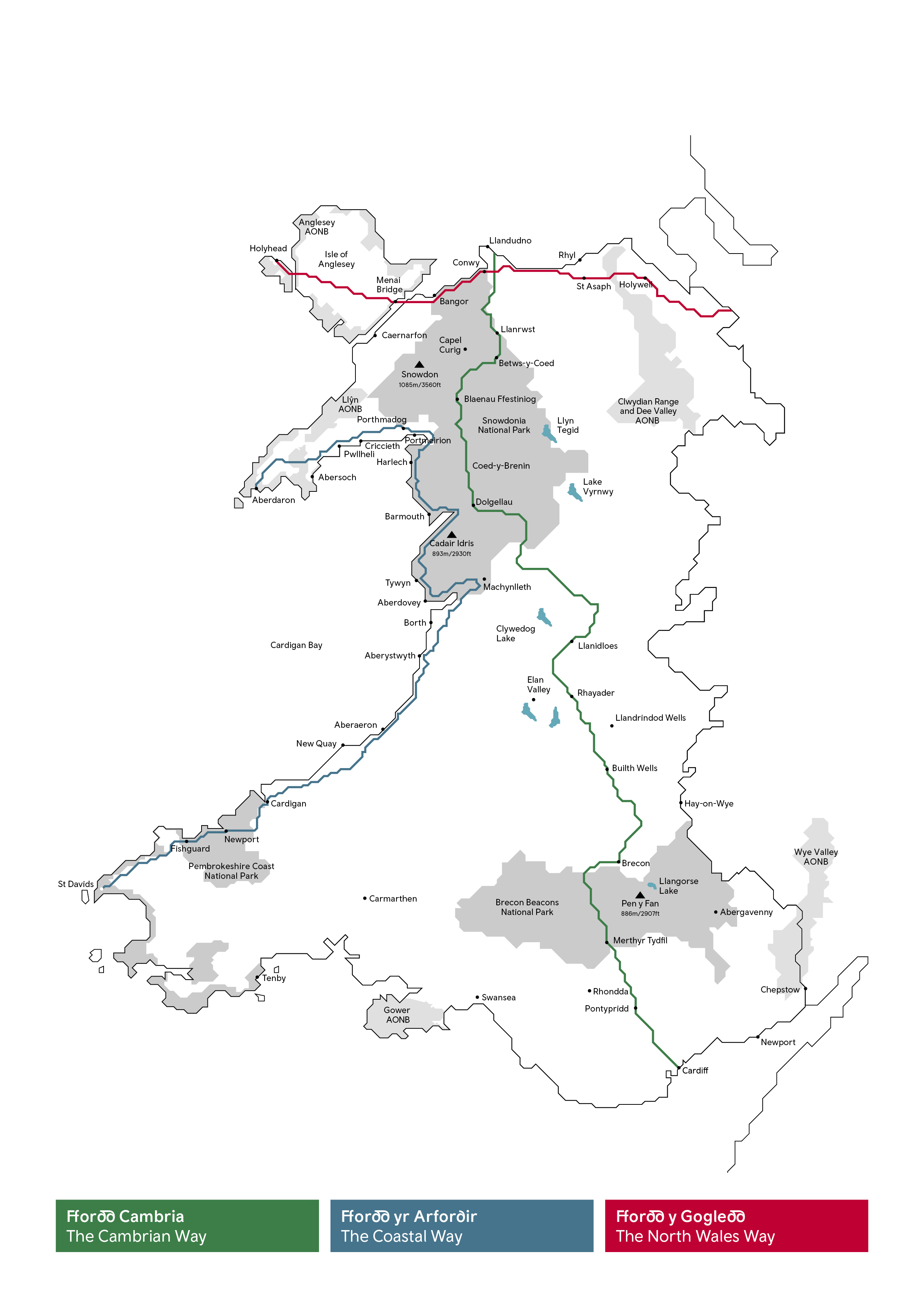 Map of the Wales Way