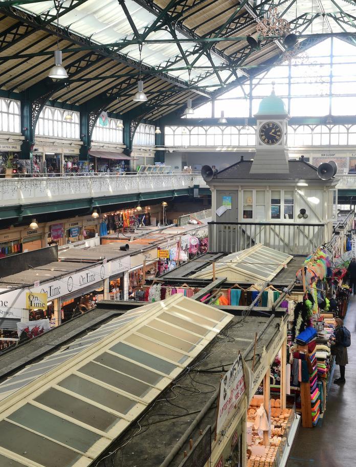 Die schöne Markthalle aus dem Jahr 1891, Cardiff.