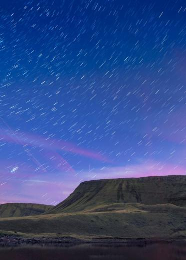 An image of stars over the Carmarthenshire fans