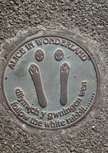 Image of an Alice Town Trail sign on the floor